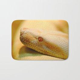 Albino Indian python Bath Mat