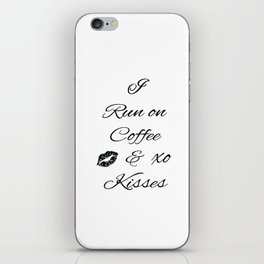 Coffee and Kisses iPhone Skin