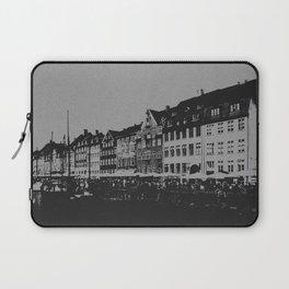 Copenhagen The Nyhavn Harbour Denmark Black and White Photography Laptop Sleeve