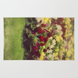 Vintage Pretty Flowers Rug