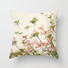 Under the Dogwood Tree  Throw Pillow