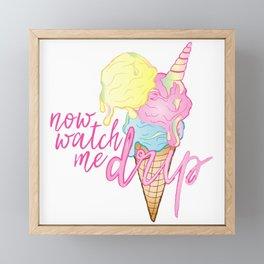 NOW WATCH ME DRIP Framed Mini Art Print