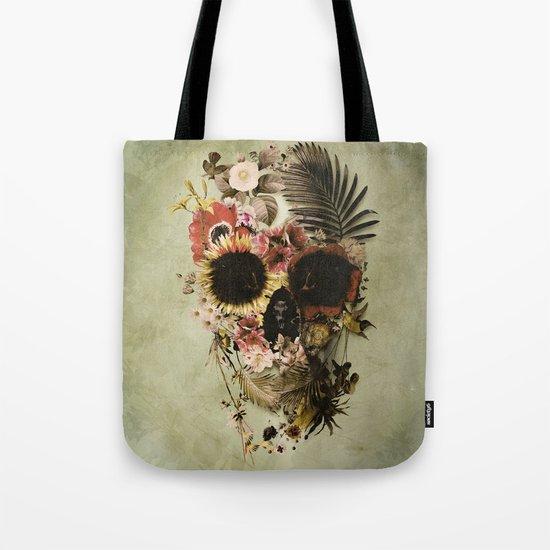 Garden Skull Light Tote Bag
