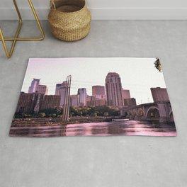 Minneapolis Minnesota Skyline at the Mississippi River Rug