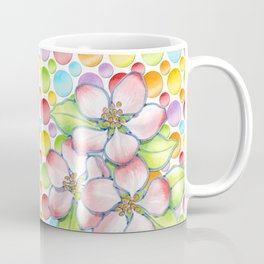 Apple Blossom Polka Dots Coffee Mug