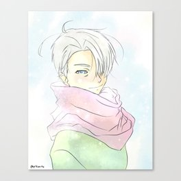 Yuri On Ice - Pastel Viktor Canvas Print