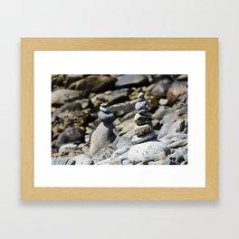 Balance Stones Framed Art Print