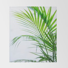 Palm leaves paradise Throw Blanket
