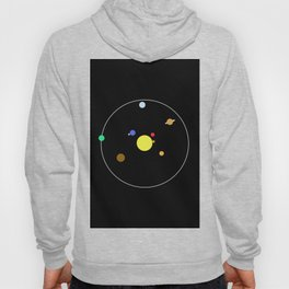 Solar System - Minimalism Abstract Pastel Colours Hoody