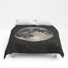 The Moon  [Sans Type] Comforters