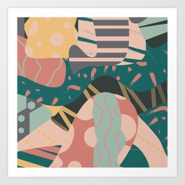 Tribal pastels Art Print