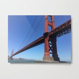 Golden Gate Persective Metal Print
