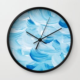 Aqua Abstract Wall Clock