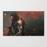 alicexz Canvas Prints featuring Blood in the Breeze by Alice X. Zhang