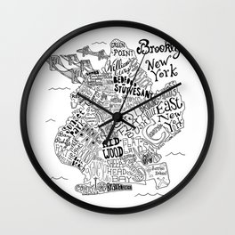 Brooklyn Map Wall Clock