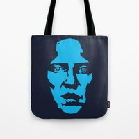 christopher walken Tote Bags featuring Walken by Aaron Synaptyx Fimister