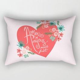 Ah l'amour Rectangular Pillow