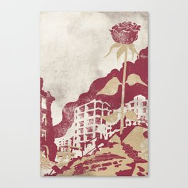 The Militancy Of A Flower Canvas Print