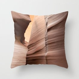 Movement in Lower Antelope Canyon Throw Pillow