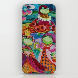 Funny frogs iPhone Skin