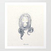 hug Art Prints featuring Hug by huemula