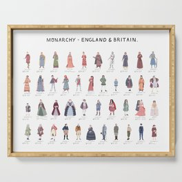Monarchy of England and Britain Poster Serving Tray