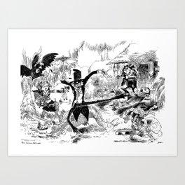 Bagarre Vaudou / Voodoo Fighting Art Print