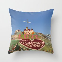 Salvation Mountain Throw Pillow