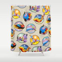 Kiddie Rides Compilation Shower Curtain