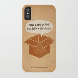 you can't make me think in here iPhone Case