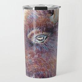 """Spirit of the West"" Buffalo Watercolor Travel Mug"