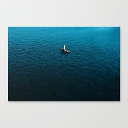 Sole Sailing Canvas Print