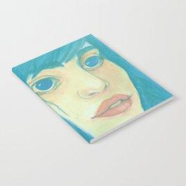 Blue girl Notebook