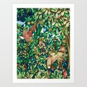 William Morris Fox and Pheasant Tapestry Print by mmgladn10