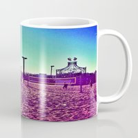santa monica Mugs featuring Santa Monica by SefoG