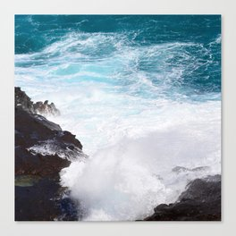 Exotic Tropical Ocean Surf Canvas Print