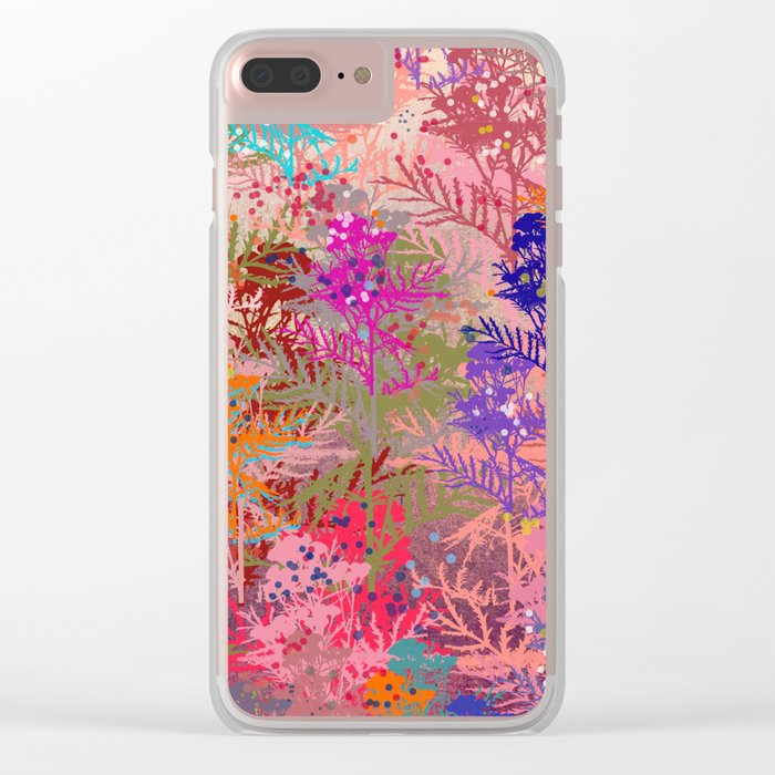 Floral abstract(52). Clear iPhone Case