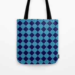 blue crochet crafts Tote Bag