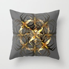 Earth Brown Insect Throw Pillow
