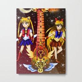 Fusion Sailor Moon Guitar #3 - Sailor Moon & Sailor Venus Metal Print