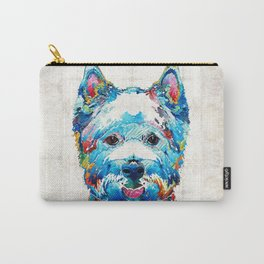 Colorful West Highland Terrier Dog Art Sharon Cummings Carry-All Pouch