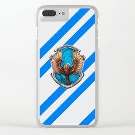 Ravenclaw Hogwarts Stripes Clear iPhone Case