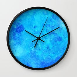 Blue abstract two Wall Clock