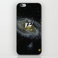 A cow become Space Junk at the Universe iPhone & iPod Skin