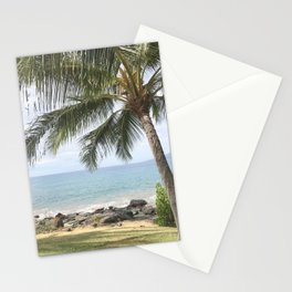 palm trees and ocean breeze Stationery Cards