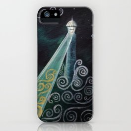 Starry Night Lighthouse iPhone Case