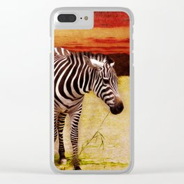 The Zebras Clear iPhone Case