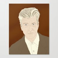 david lynch Canvas Prints featuring LYNCH by Itxaso Beistegui Illustrations