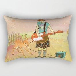 Guitar Fawn Rectangular Pillow