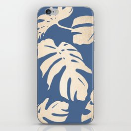 Simply Tropical Palm Leaves White Gold Sands on Aegean Blue iPhone Skin